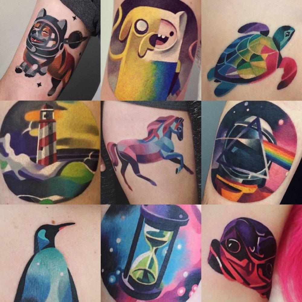 Gorgeous Illustrative Tattoos By Sasha Unisex 5