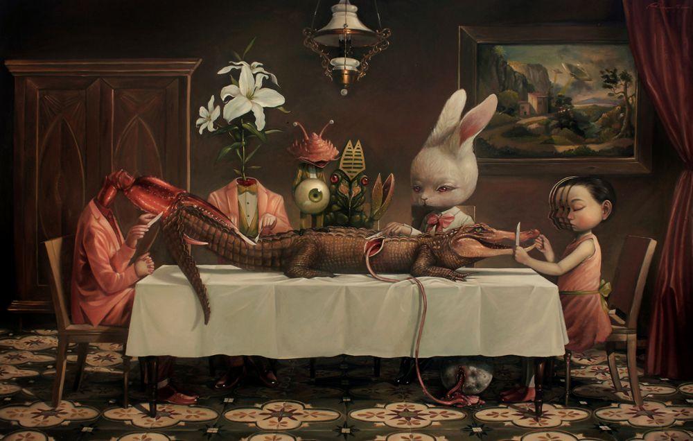 Graciously Bizarre Dark Surrealist Illustrations By Roby Dwi Antono 1