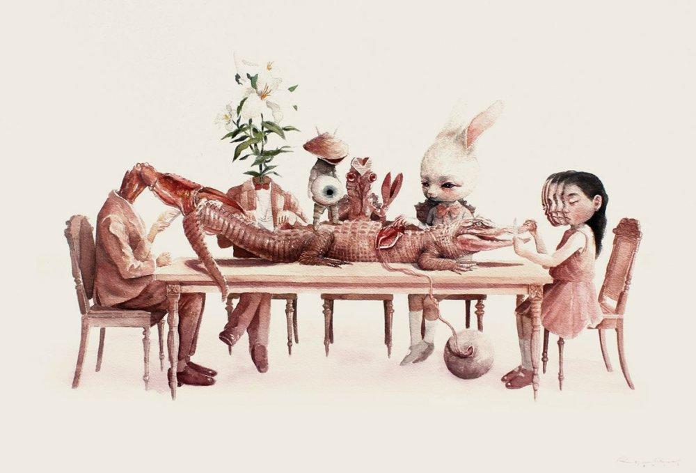 Graciously Bizarre Dark Surrealist Illustrations By Roby Dwi Antono 13