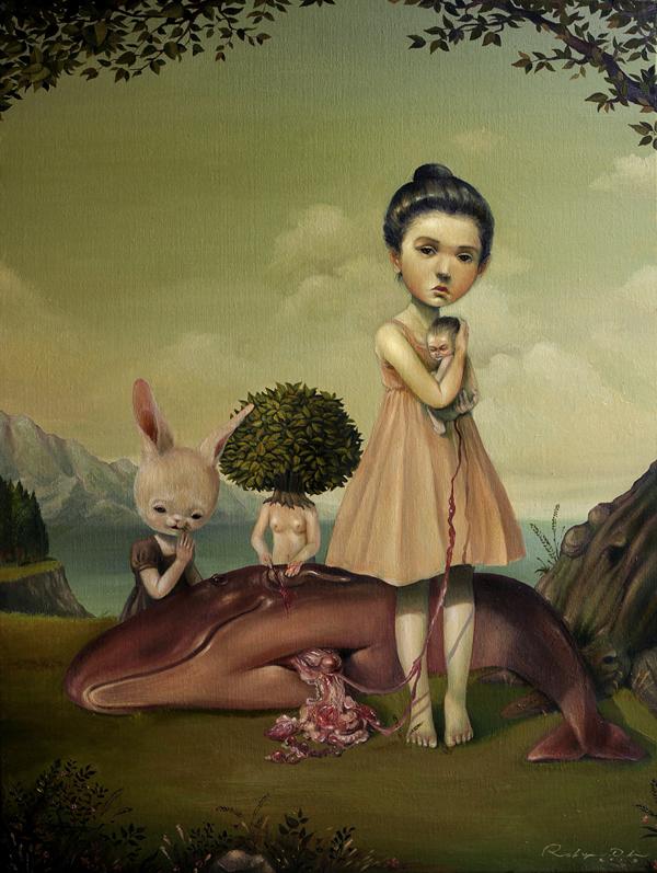 Graciously Bizarre Dark Surrealist Illustrations By Roby Dwi Antono 15