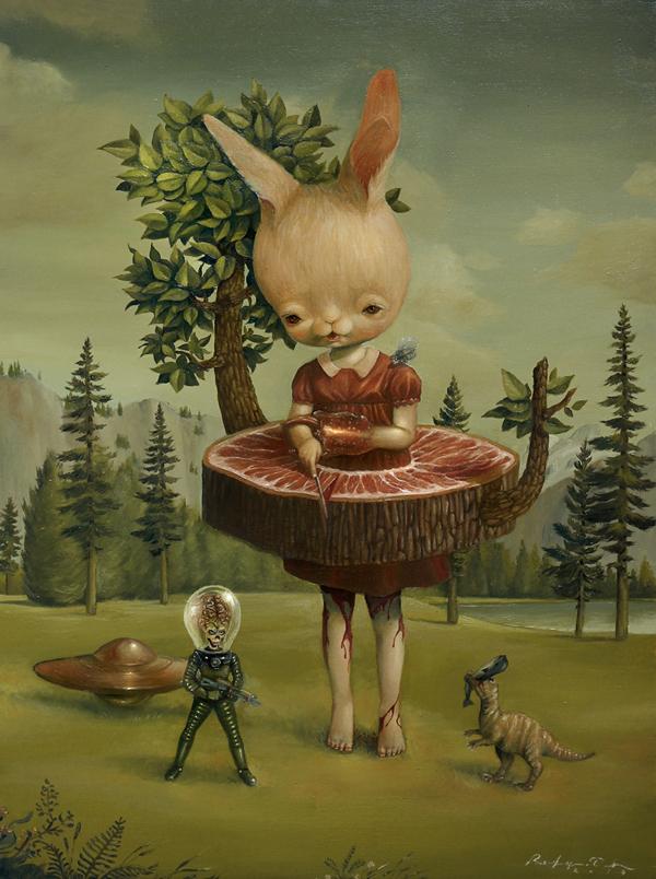 Graciously Bizarre Dark Surrealist Illustrations By Roby Dwi Antono 16