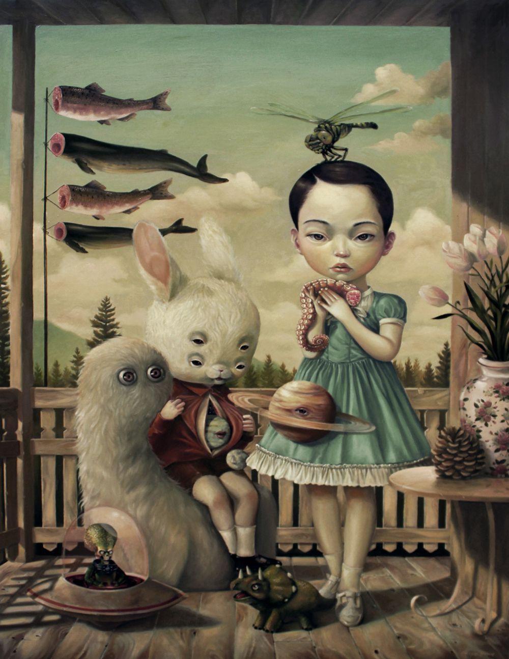 Graciously Bizarre Dark Surrealist Illustrations By Roby Dwi Antono 3