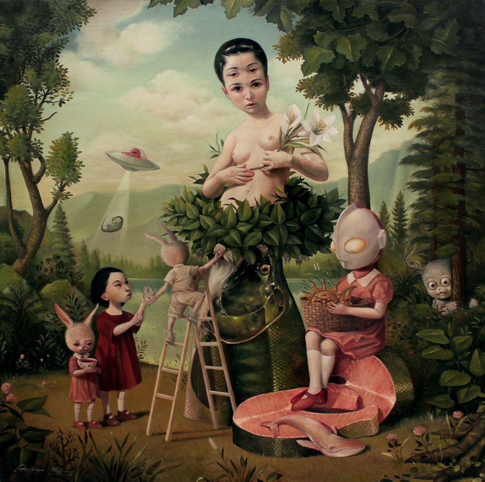 Graciously Bizarre Dark Surrealist Illustrations By Roby Dwi Antono 4