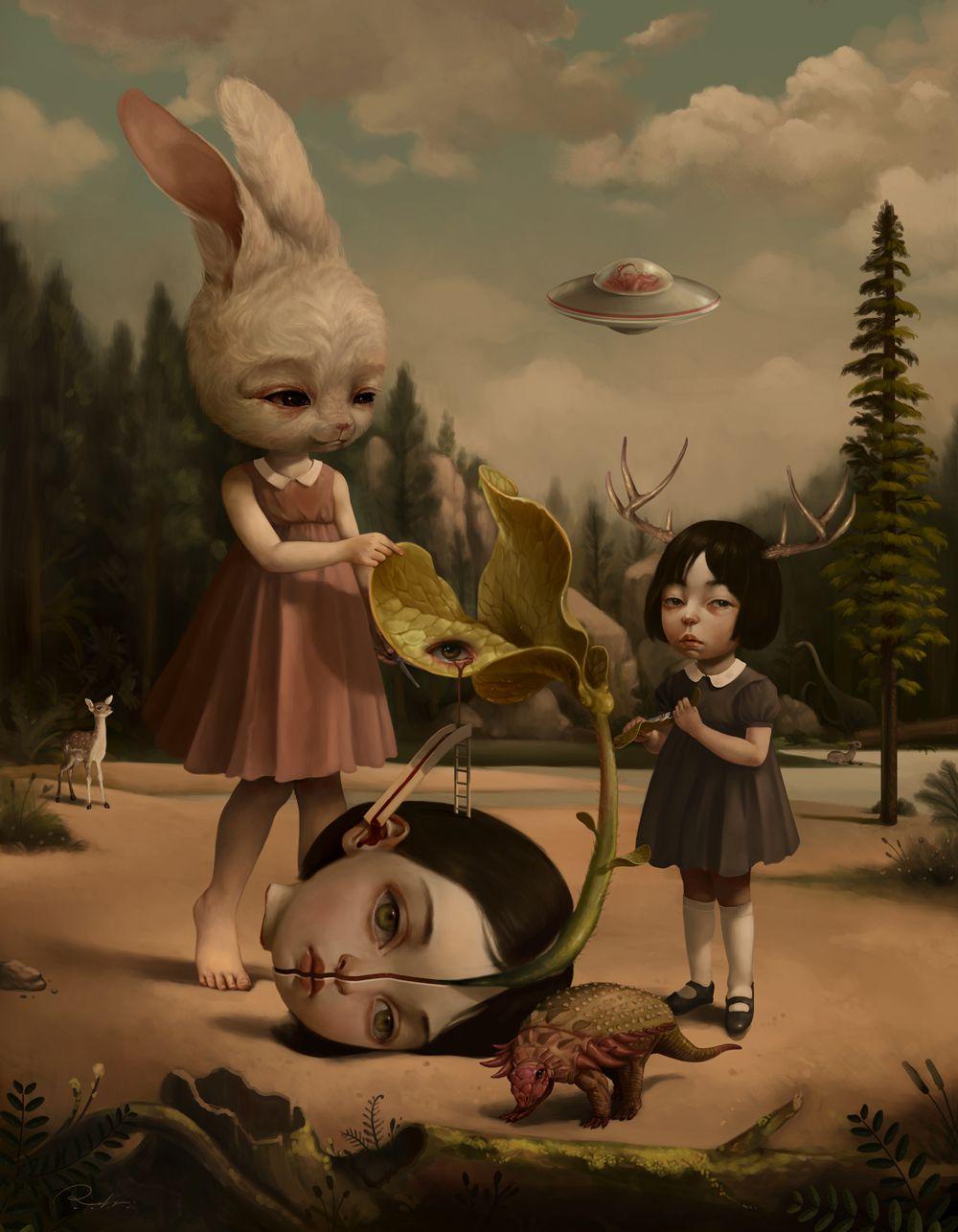 Graciously Bizarre Dark Surrealist Illustrations By Roby Dwi Antono 6