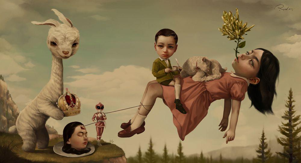 Graciously Bizarre Dark Surrealist Illustrations By Roby Dwi Antono 7