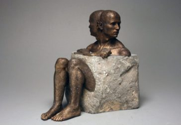 Intriguing bronze and stone sculptures by Bryon Draper