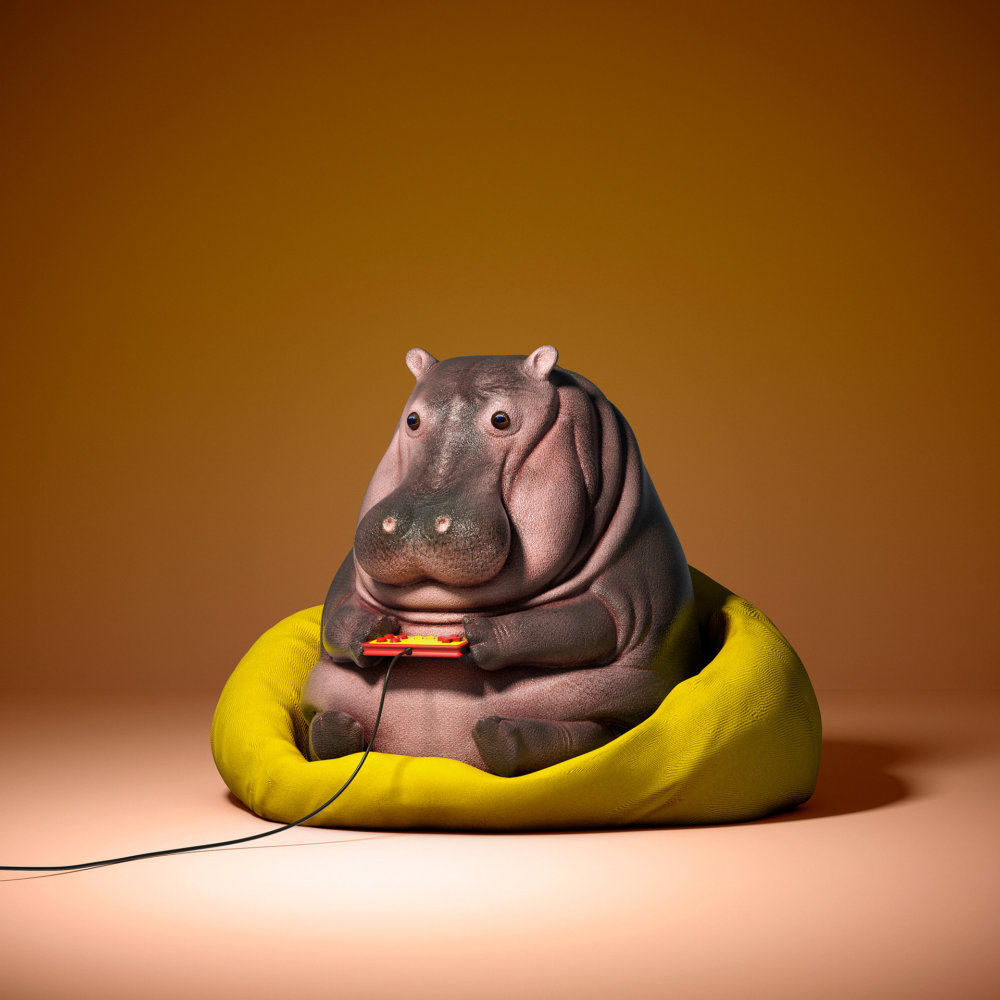 Lazy Things Funny Series Of Animals Immersed In Technology By Guodong Zhao 6