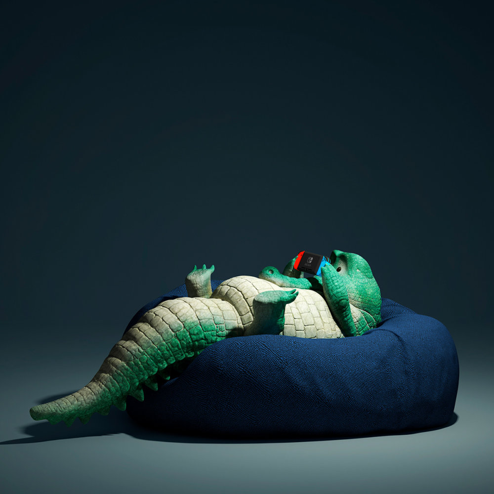 Lazy Things Funny Series Of Animals Immersed In Technology By Guodong Zhao 8