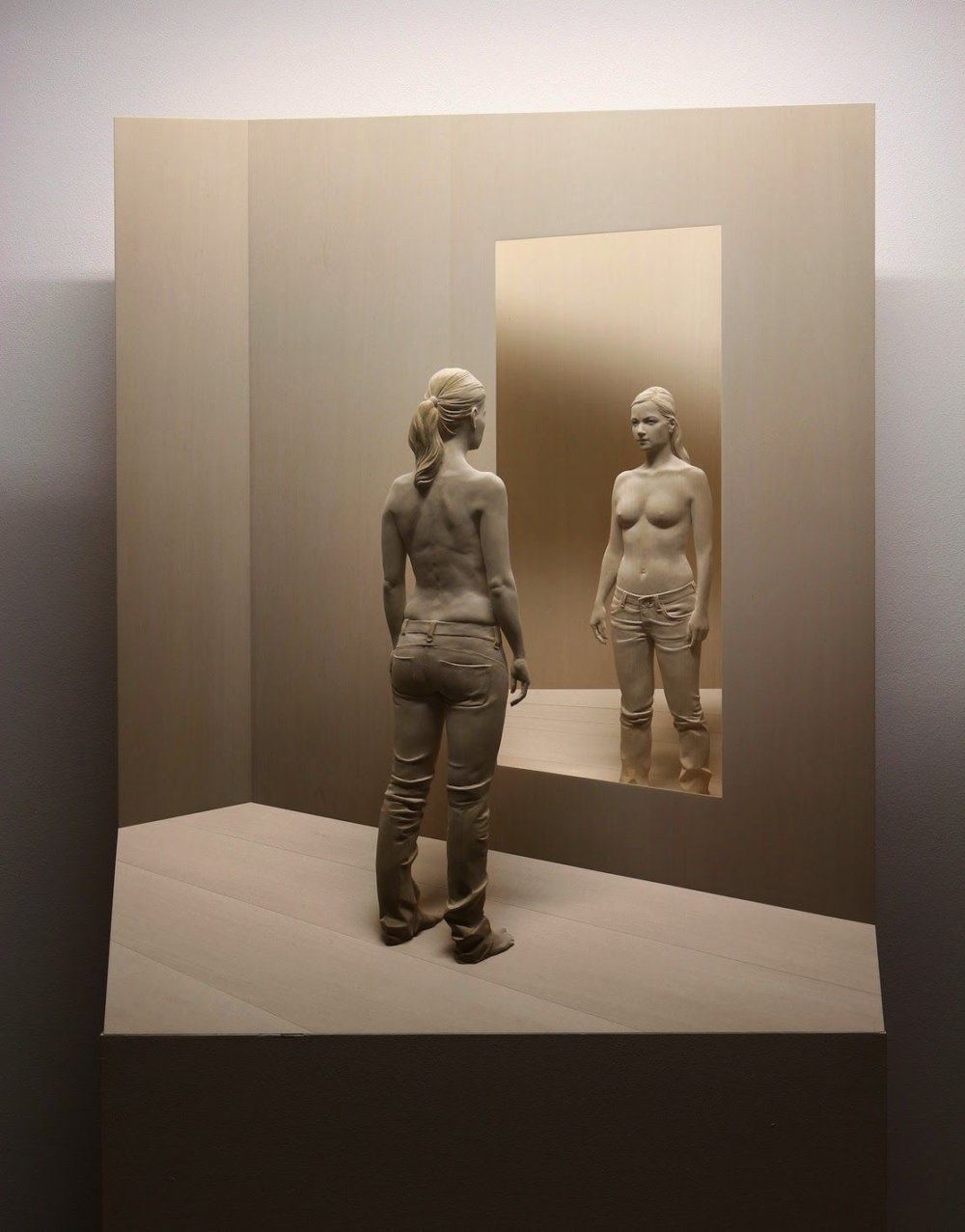 Magnificent Life Like Wooden Sculptures Hand Carved By Peter Demetz 1
