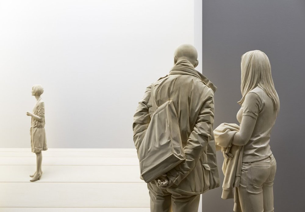 Magnificent Life Like Wooden Sculptures Hand Carved By Peter Demetz 10
