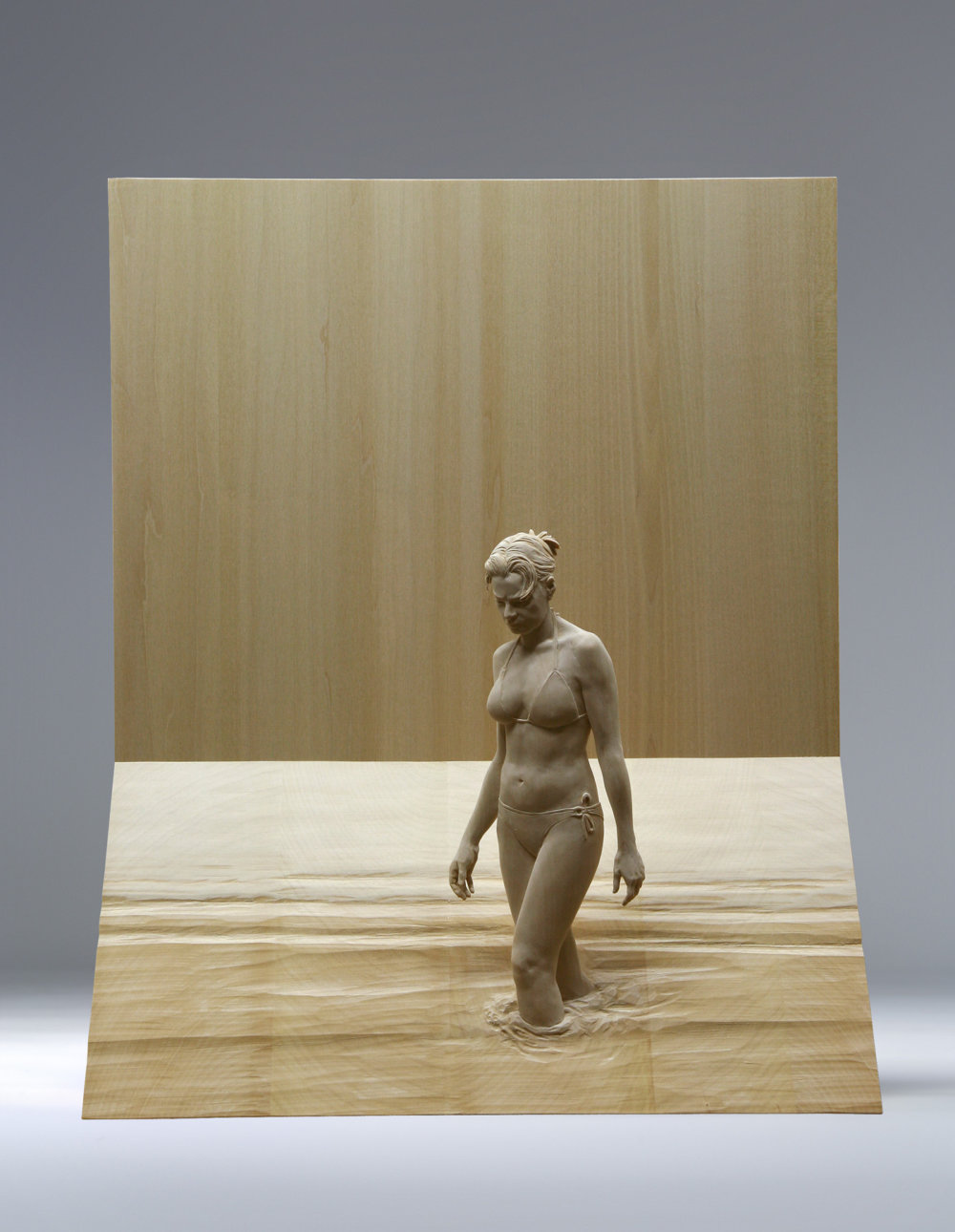 Magnificent Life Like Wooden Sculptures Hand Carved By Peter Demetz 4
