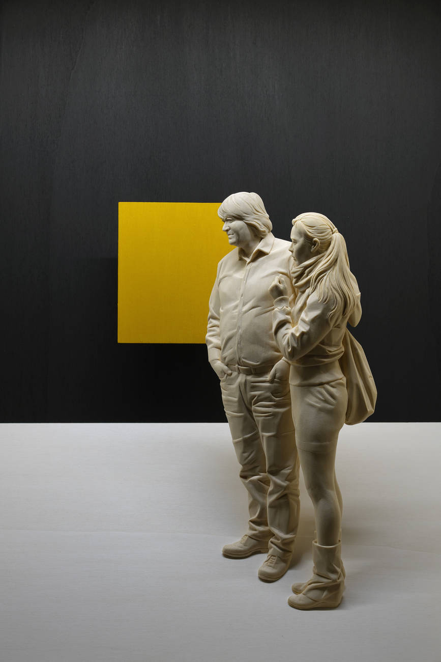 Magnificent Life Like Wooden Sculptures Hand Carved By Peter Demetz 5