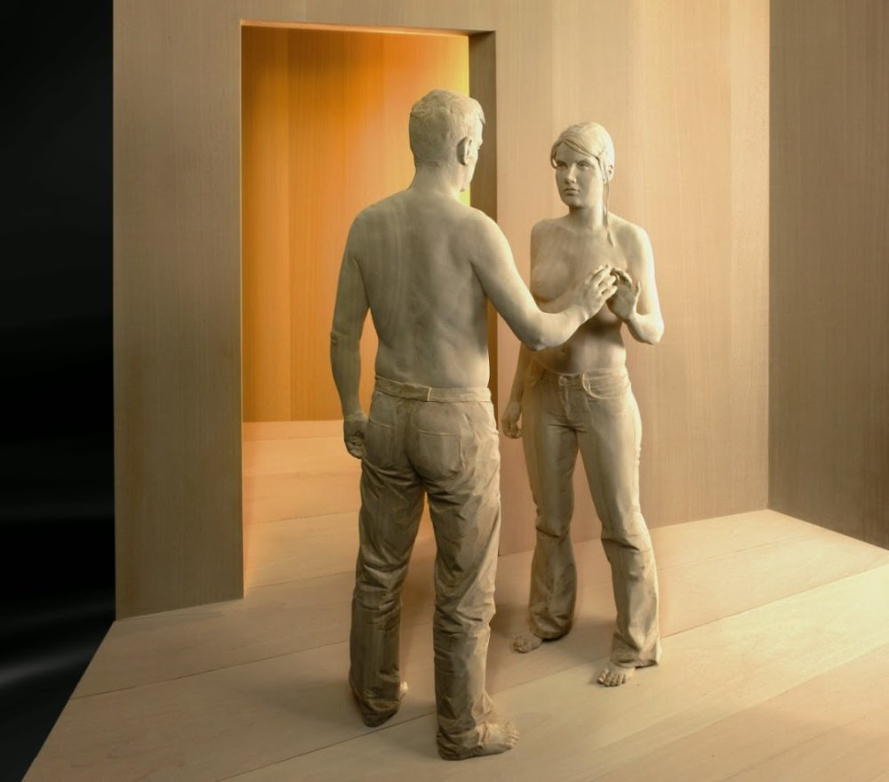 Magnificent Life Like Wooden Sculptures Hand Carved By Peter Demetz 6