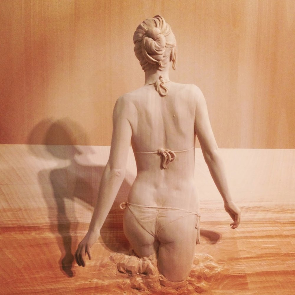 Magnificent Life Like Wooden Sculptures Hand Carved By Peter Demetz 7