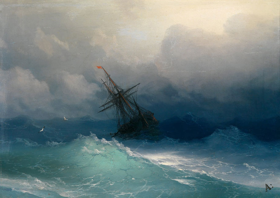 Mesmerizing Marine Paintings With Translucent Waves By Ivan Aivazovsky 1