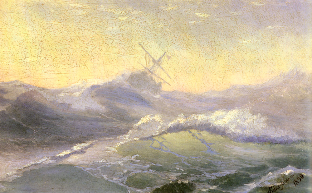 Mesmerizing Marine Paintings With Translucent Waves By Ivan Aivazovsky 10