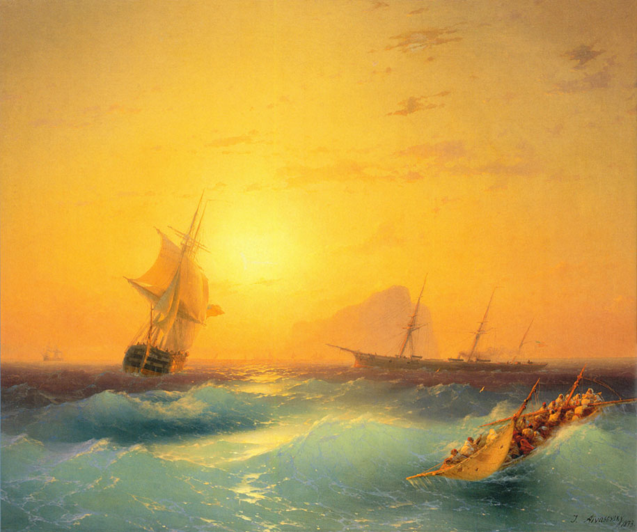 Mesmerizing Marine Paintings With Translucent Waves By Ivan Aivazovsky 2