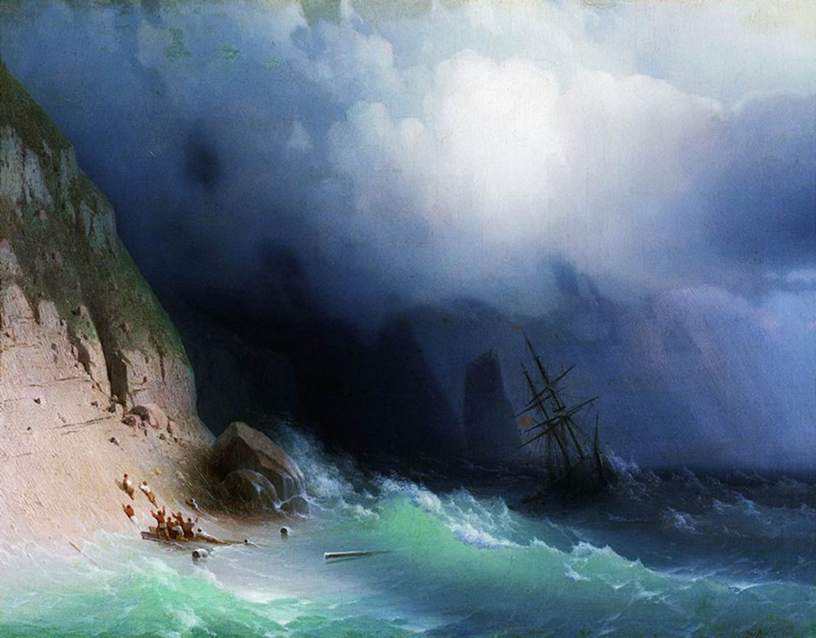 Mesmerizing Marine Paintings With Translucent Waves By Ivan Aivazovsky 3