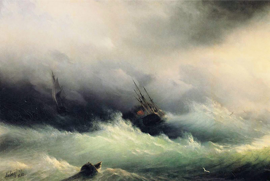 Mesmerizing Marine Paintings With Translucent Waves By Ivan Aivazovsky 5