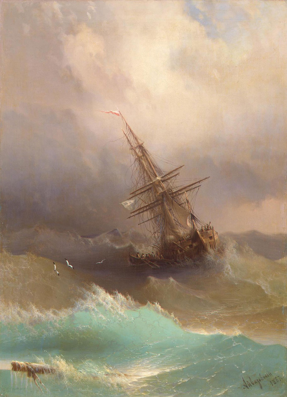 Mesmerizing Marine Paintings With Translucent Waves By Ivan Aivazovsky 6