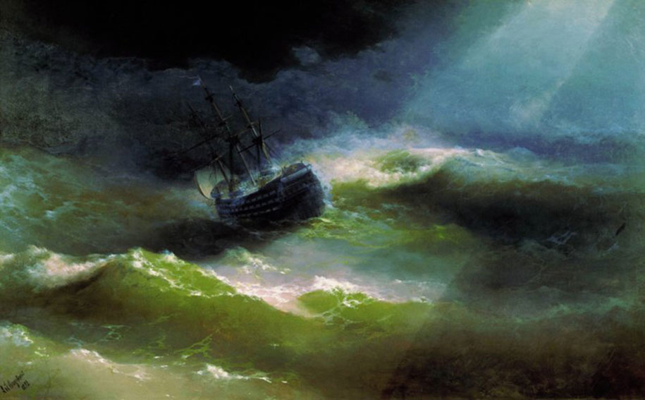 Mesmerizing Marine Paintings With Translucent Waves By Ivan Aivazovsky 7