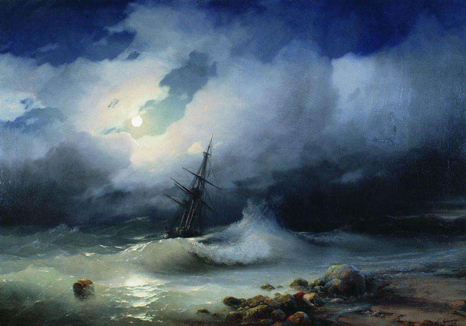 Mesmerizing Marine Paintings With Translucent Waves By Ivan Aivazovsky 8