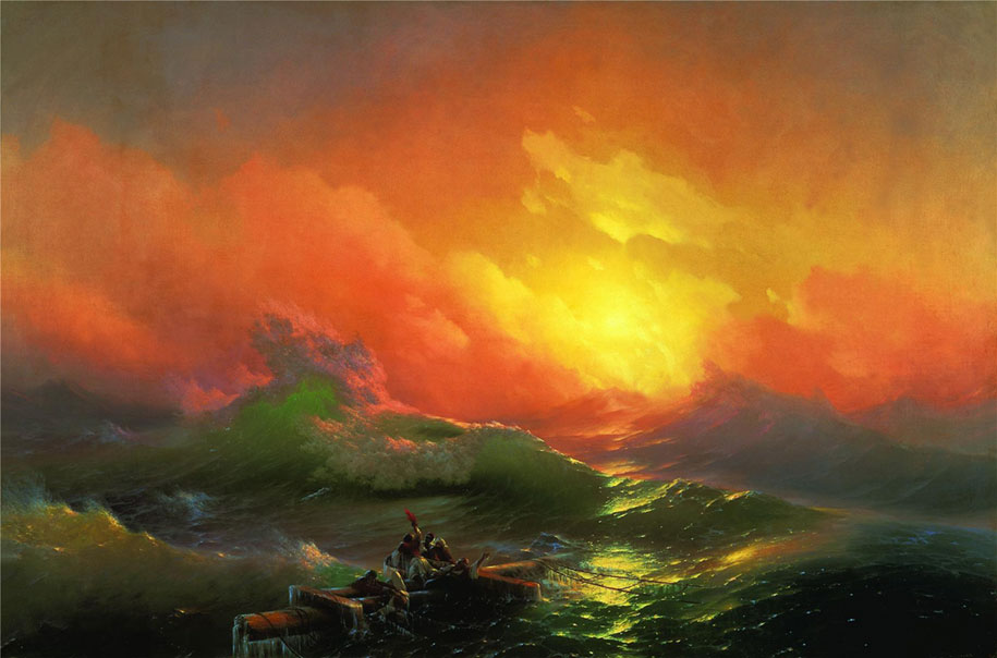 Mesmerizing Marine Paintings With Translucent Waves By Ivan Aivazovsky 9