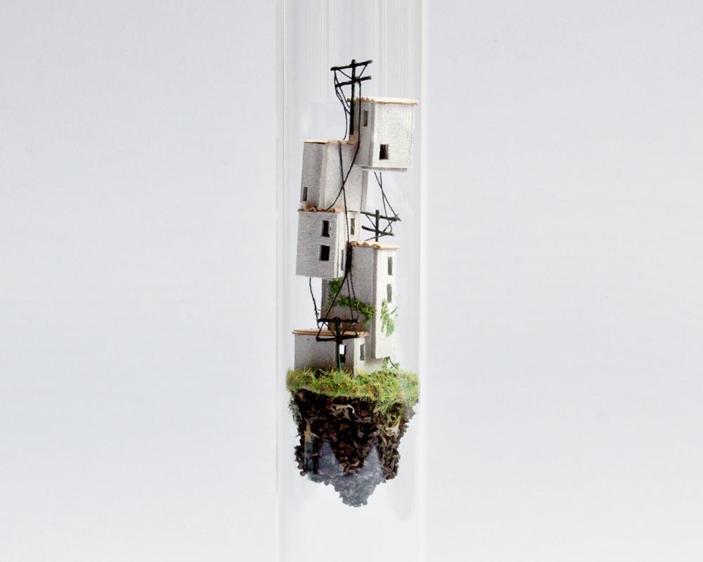 Micro Matter Mini Dioramas Inside Test Tubes By Rosa De Jong 2