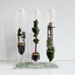 """Micro Matter"": mini-dioramas inside glass test-tubes by Rosa de Jong"