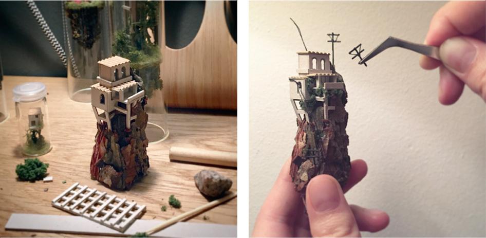 Micro Matter Mini Dioramas Inside Test Tubes By Rosa De Jong 6