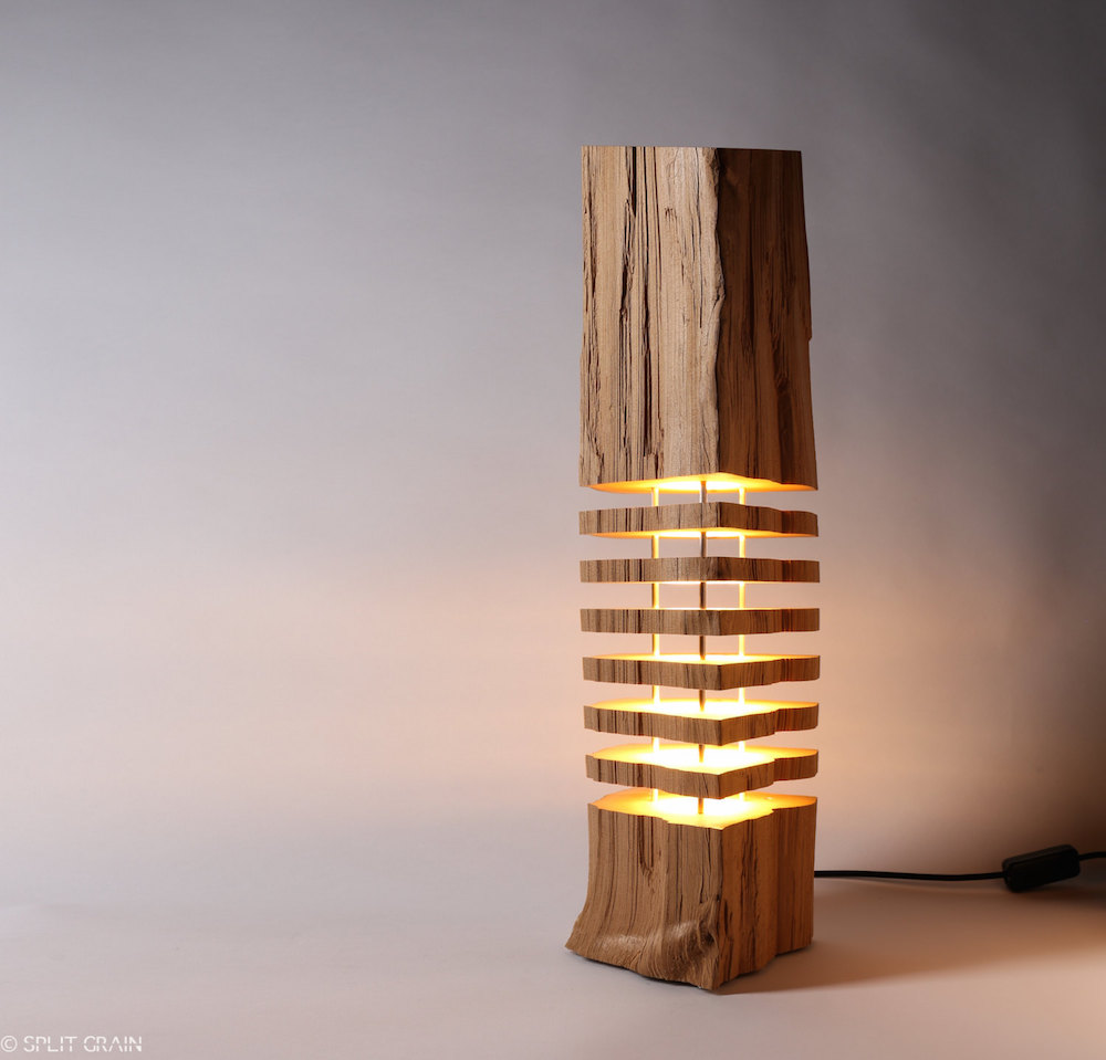 Minimalist And Sculptural Sliced Wood Lamps By Split Grain 1