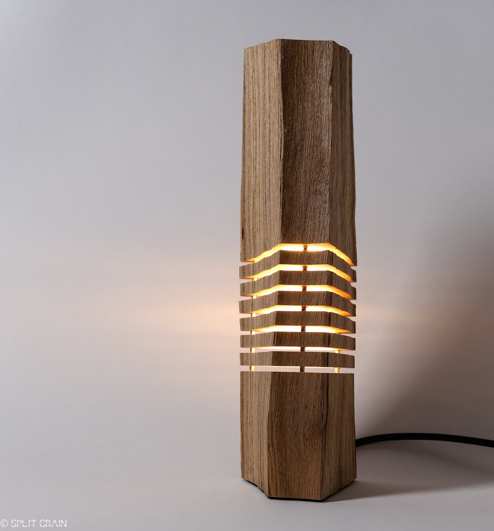 Minimalist And Sculptural Sliced Wood Lamps By Split Grain 2