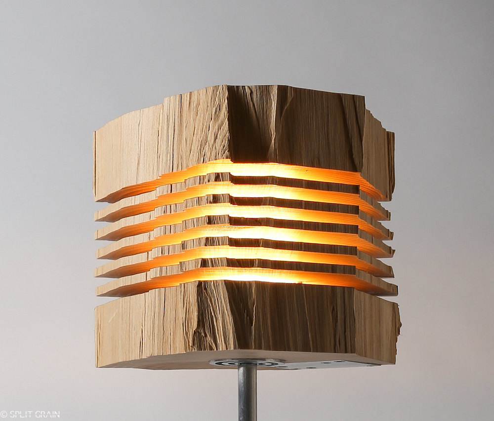 Minimalist And Sculptural Sliced Wood Lamps By Split Grain 4