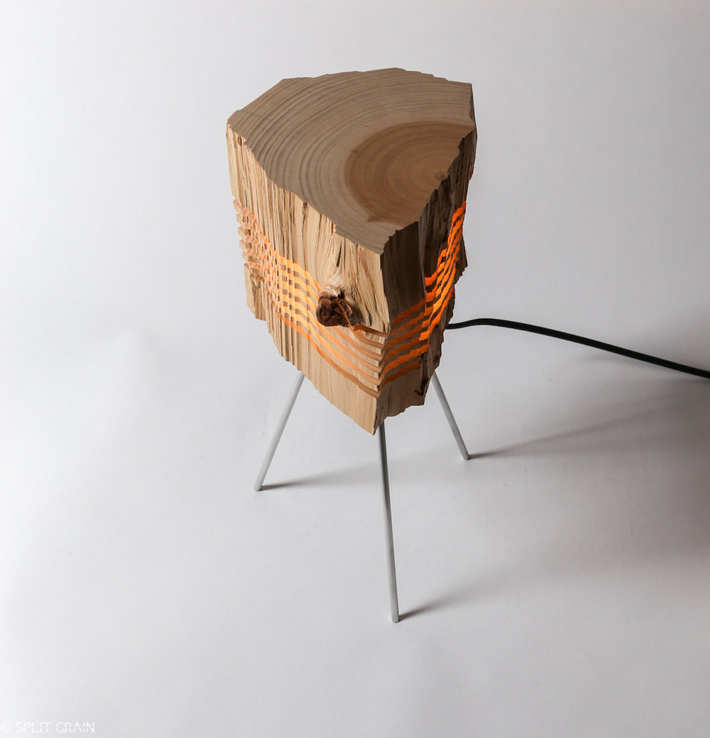 Minimalist And Sculptural Sliced Wood Lamps By Split Grain 5