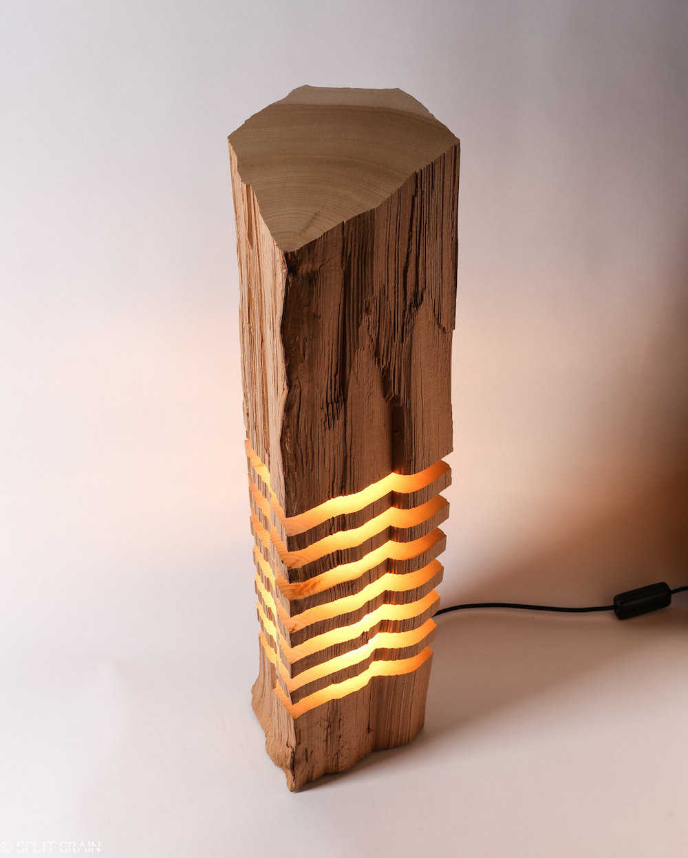 Minimalist And Sculptural Sliced Wood Lamps By Split Grain 6