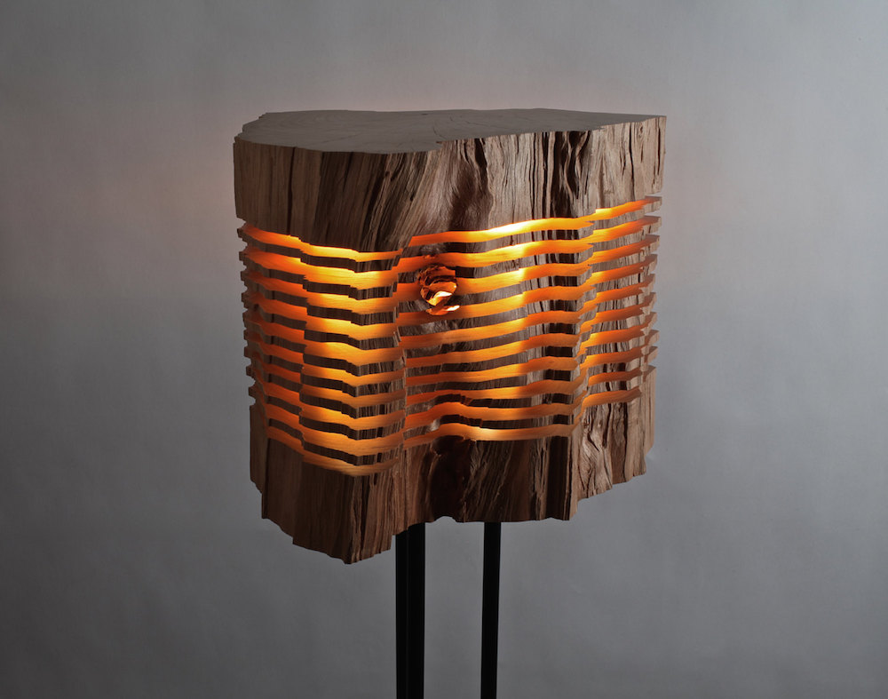 Minimalist And Sculptural Sliced Wood Lamps By Split Grain 7