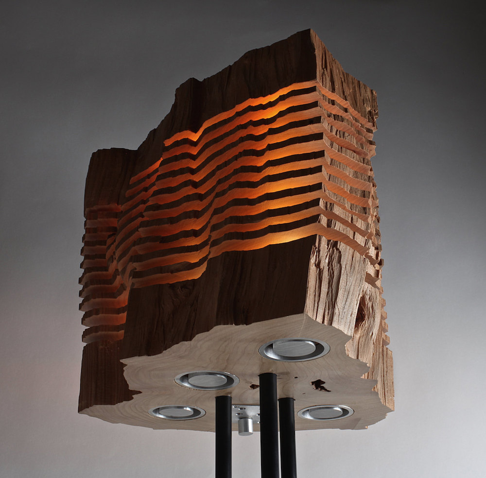 Minimalist And Sculptural Sliced Wood Lamps By Split Grain 8