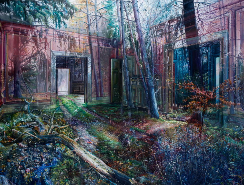 Natural And Human Environments Mixed Into Intricate Overlapped Oil Paintings By Jacob Brostrup 1