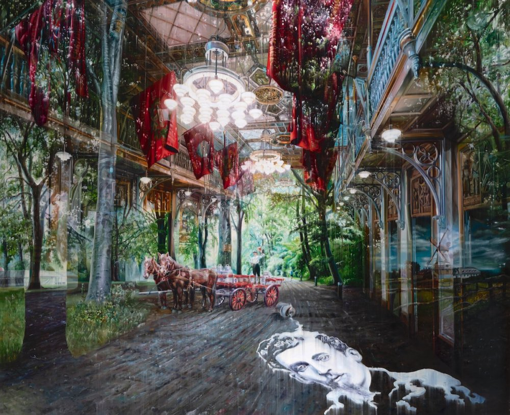 Natural And Human Environments Mixed Into Intricate Overlapped Oil Paintings By Jacob Brostrup 10