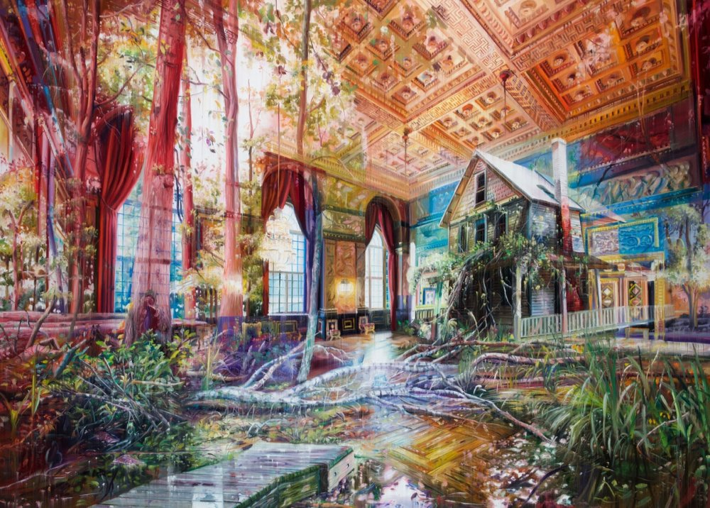 Natural And Human Environments Mixed Into Intricate Overlapped Oil Paintings By Jacob Brostrup 2