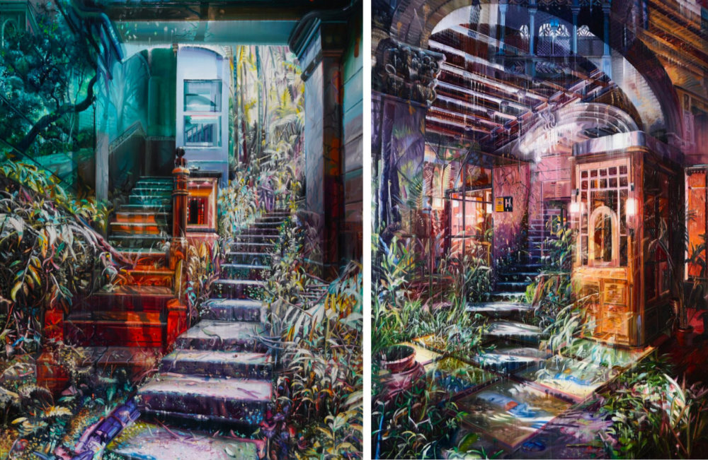 Natural And Human Environments Mixed Into Intricate Overlapped Oil Paintings By Jacob Brostrup 5