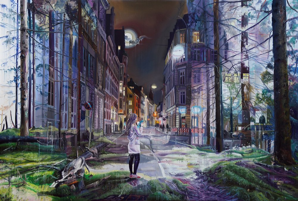 Natural And Human Environments Mixed Into Intricate Overlapped Oil Paintings By Jacob Brostrup 6