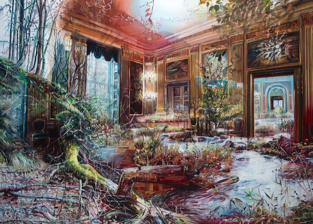 Natural And Human Environments Mixed Into Intricate Overlapped Oil Paintings By Jacob Brostrup 7