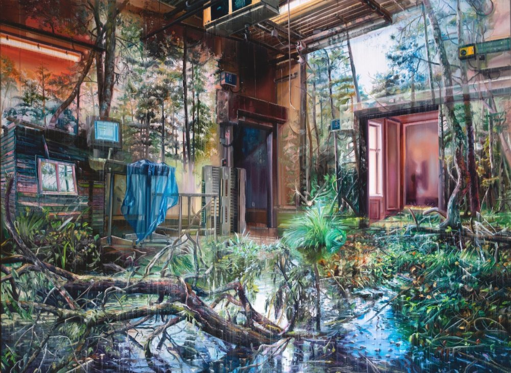 Natural And Human Environments Mixed Into Intricate Overlapped Oil Paintings By Jacob Brostrup 9