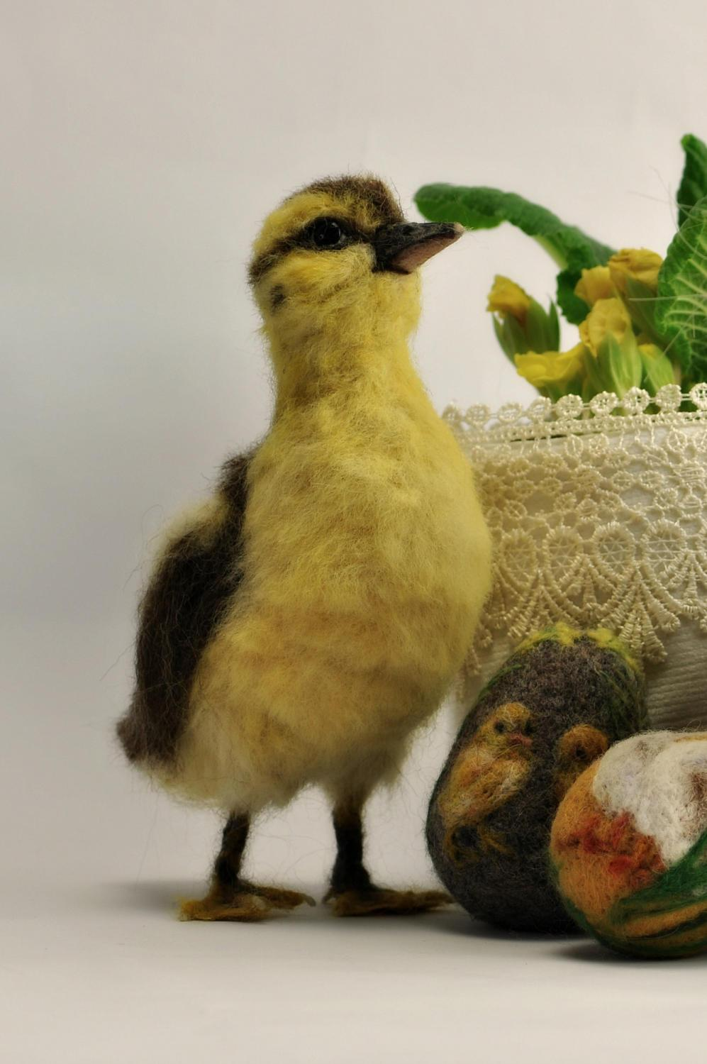 Needle Felted Animal Sculptures In Miniature By Daria Lvovsky 3