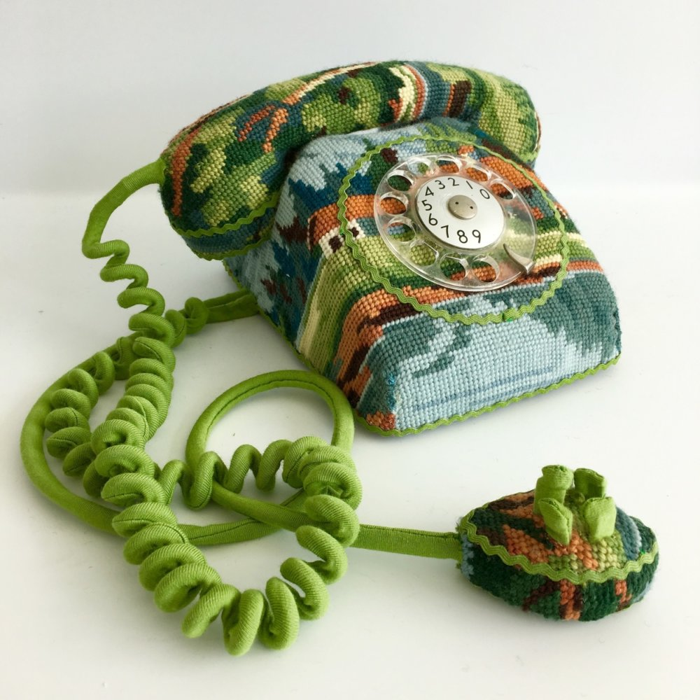 Obsolescence Domestic Objects Entirely Covered In Stamped Embroidery By Ulla Stina Wikander 2