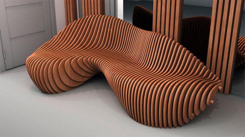 Organic Shaped Furniture By Parametric 2