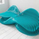 Organic-shaped furniture by Parametric