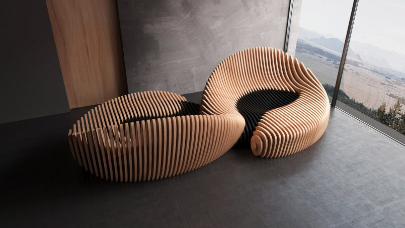 Organic Shaped Furniture By Parametric 3