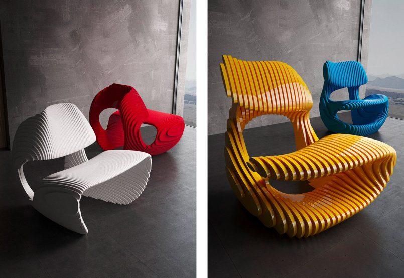 Organic Shaped Furniture By Parametric 6